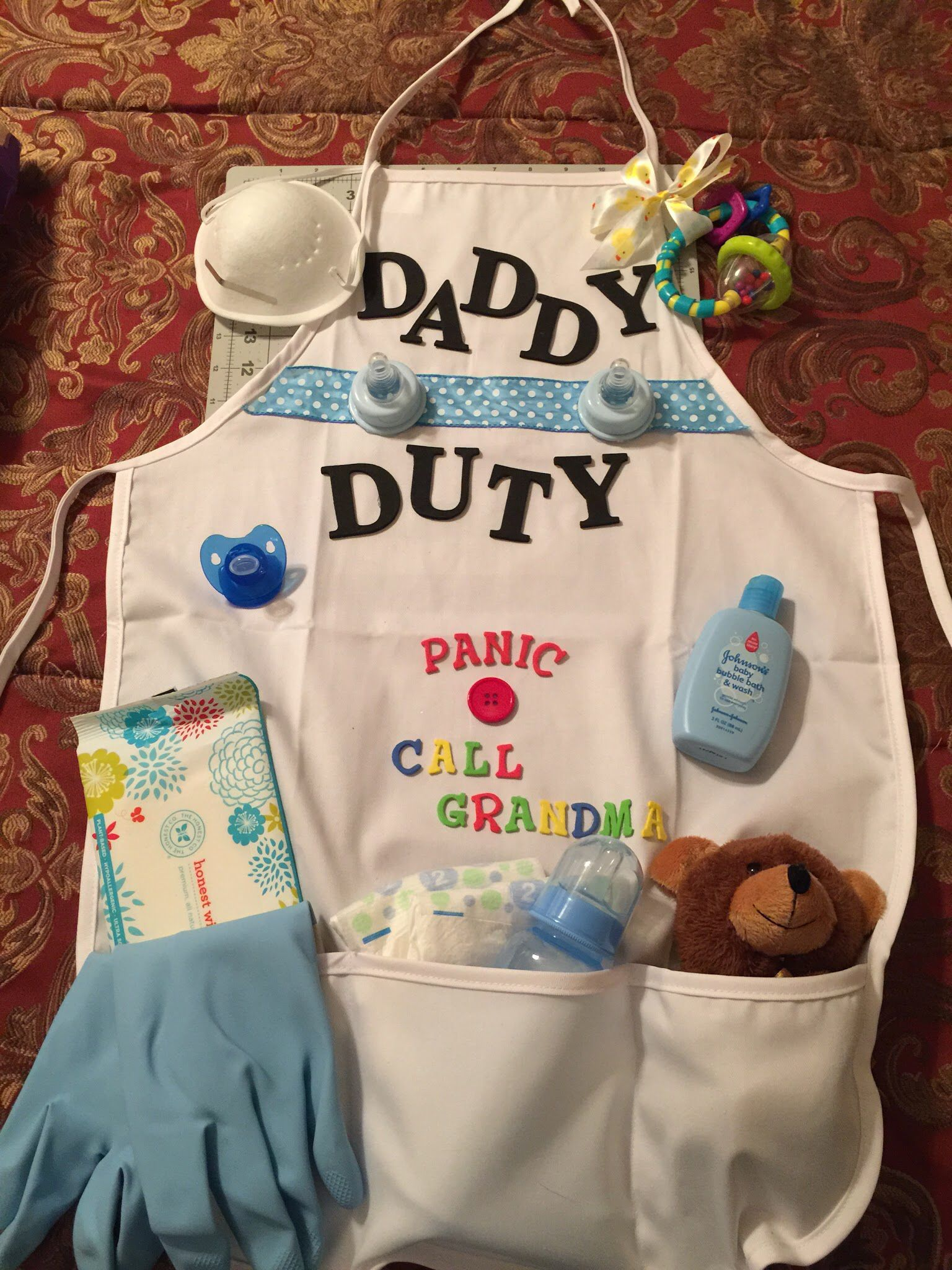 New Dad Diaper Duty apron
