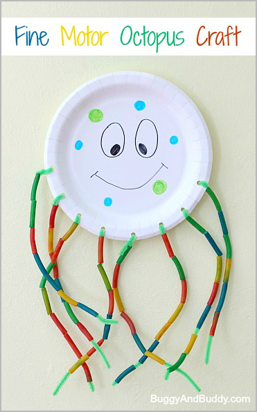 Fine Motor Octopus Craft For Kids Mamma S Babies Crafts For Kids