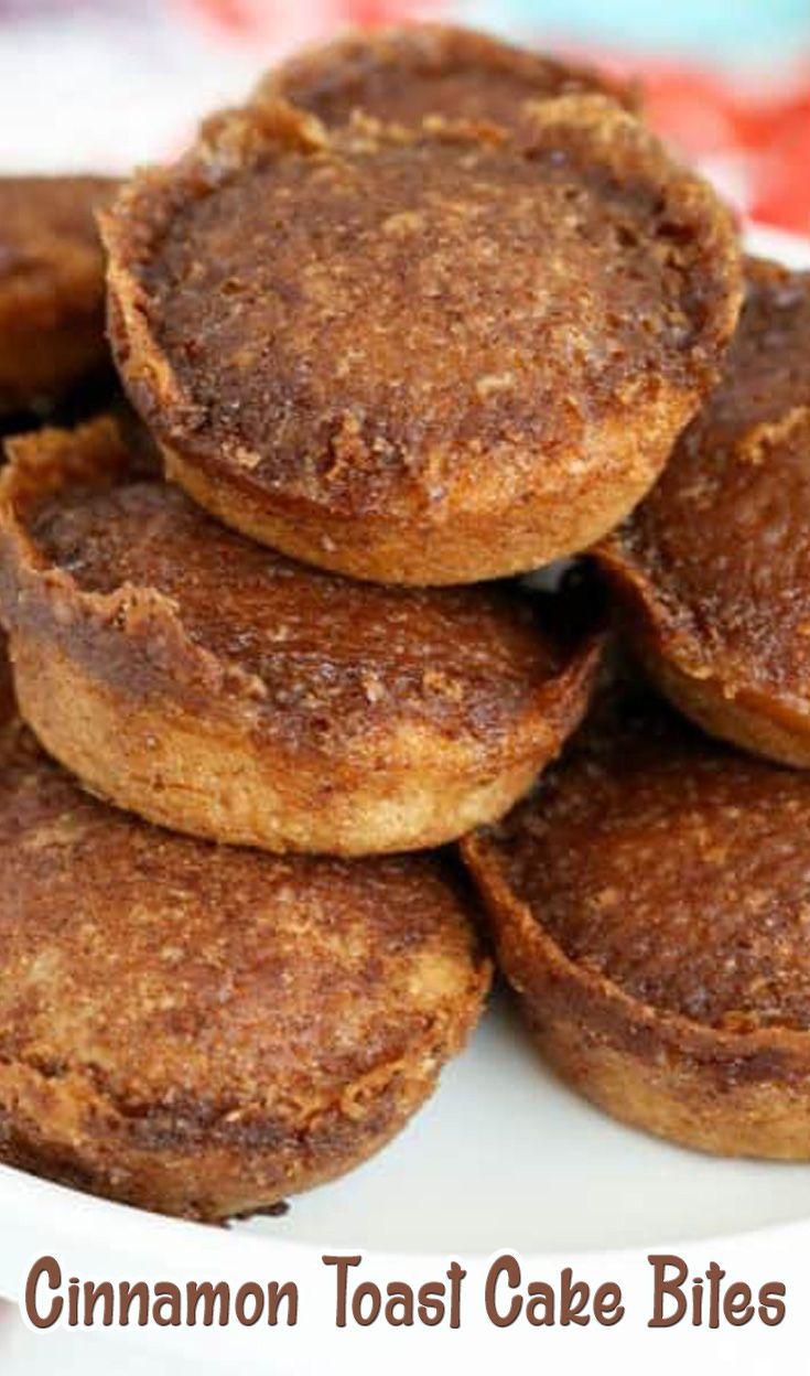 Cinnamon toast cake bites with images cake bites