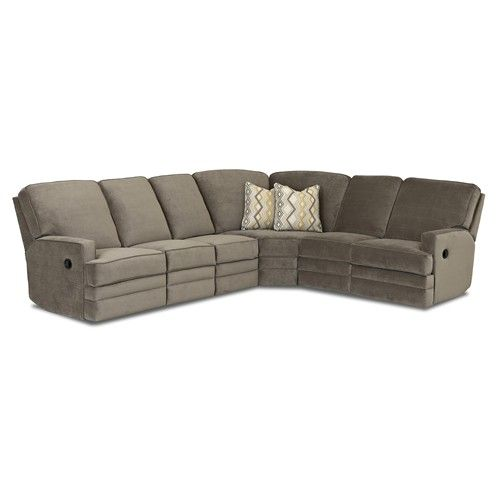 klaussner grand power reclining sofa chesterfield brown leather chapman casual sectional by living room
