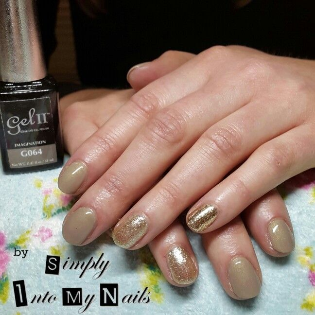 Gel Ii Imagination With Golden Mirage And Magpie Gol Manicures My Nails