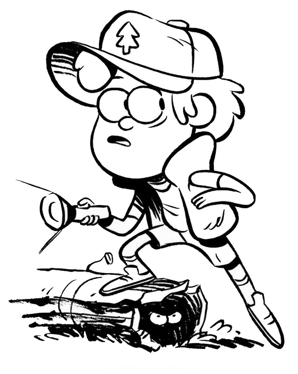 gravity falls coloring pages dipper - photo#25
