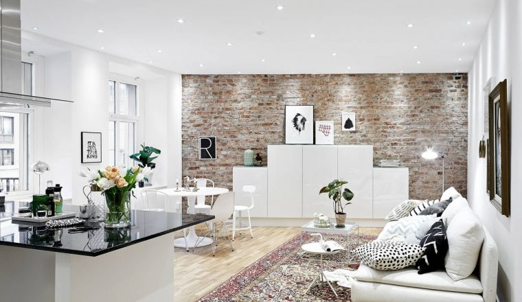 Bakstenen Binnenmuur Behandelen : Huis met bakstenen muur als eyecatcher ideeën voor het huis
