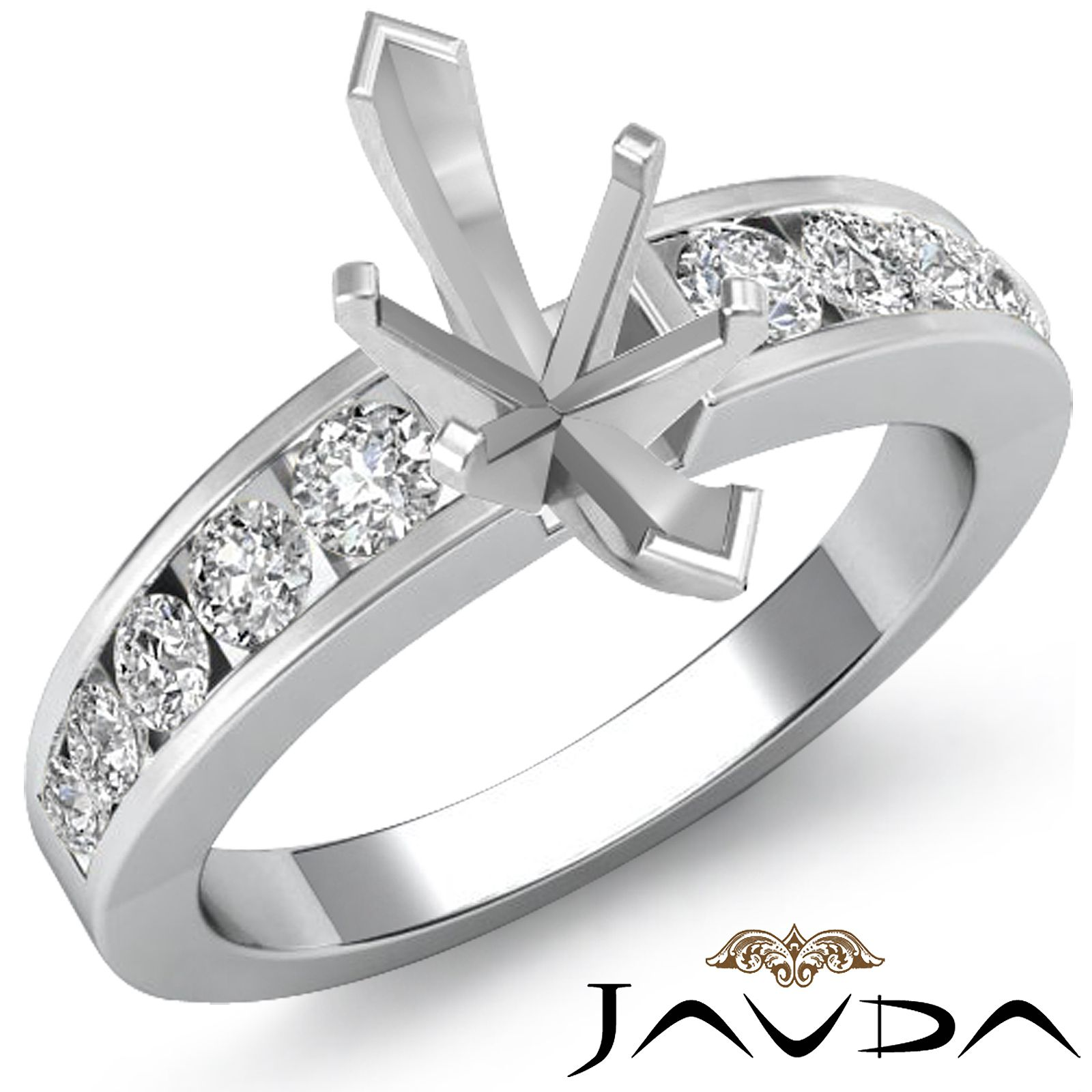 channel set engagement shoulders claw diamond setting with ring centre jewellery settings