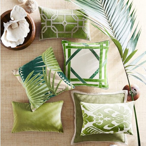 how to use decorative pillows how to use pantone greenery at home  with images  tropical decor how to use throw pillows on a bed how to use pantone greenery at home