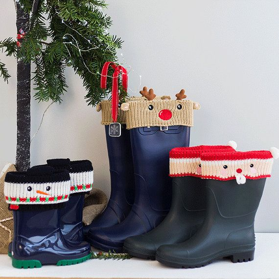 Personalised Christmas Boot Cuffs - Welly Socks - Personalised Welly ...