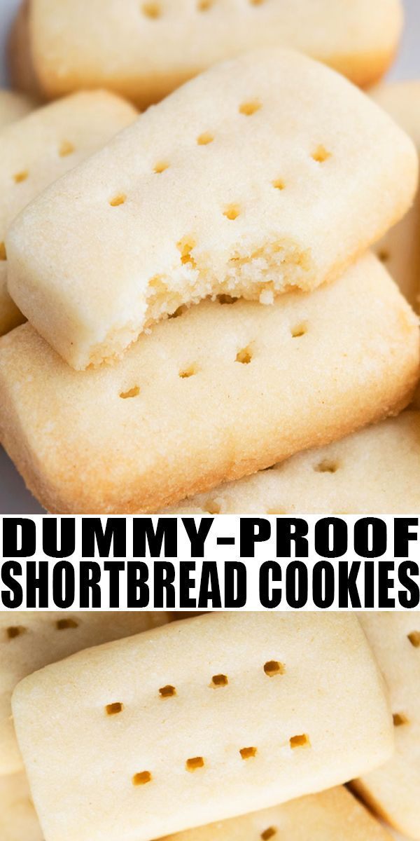Best Shortbread Cookies {3 Ingredients}