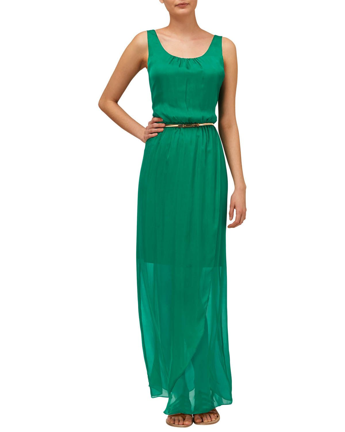 Dresses | Green Elsa Silk Maxi Dress | Phase Eight | Outfits ...