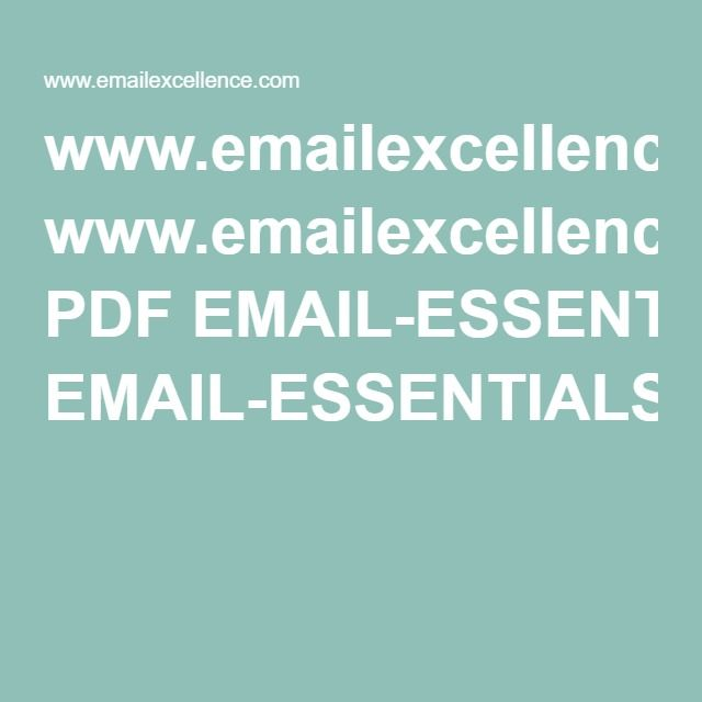wwwemailexcellence PDF EMAIL-ESSENTIALS-The-Master-Template - health history template