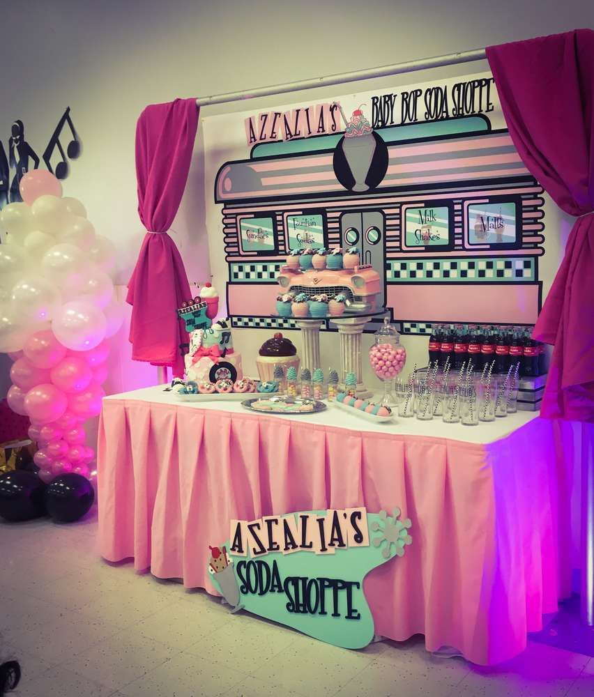Check Out This Fun Retro Sock Hop Baby Shower The Dessert
