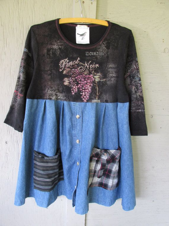 upcycled clothing women's A line tunic von lillienoradrygoods