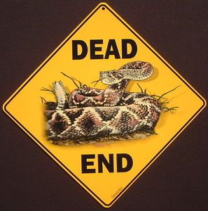 Rattlesnake Crossing Sign Art Picture Snakes Decor Signs Painting Home Wildlife | eBay