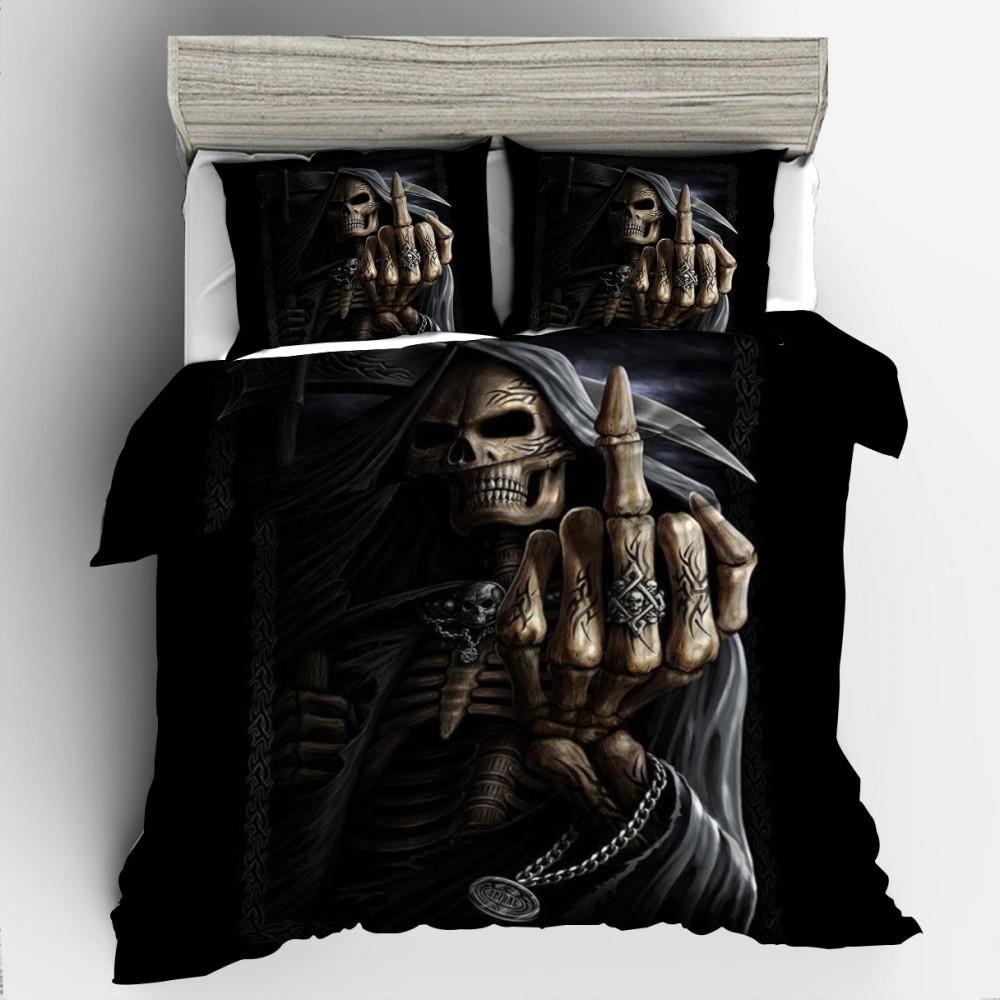 3d Dark Skull Bedding Set Stuff Shop