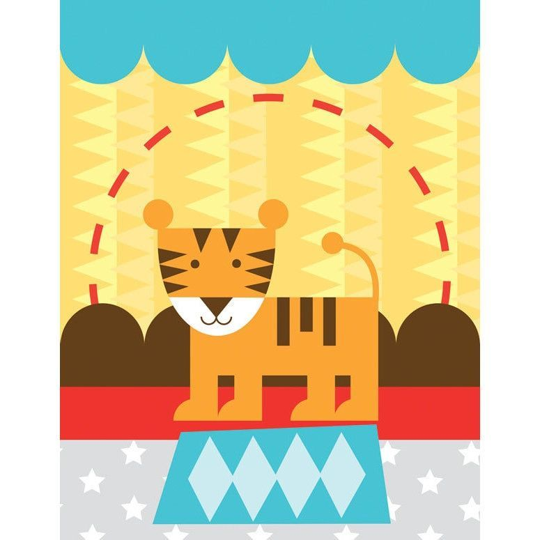 Oopsy daisy \'Circus Tricks - Tiger\' 14 x 18-inch Stretched Canvas ...