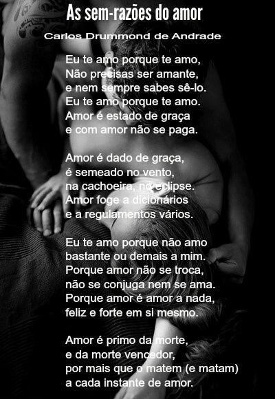 As Sem Razões Do Amor Carlos Drummond De Andrade Poesía Brasil