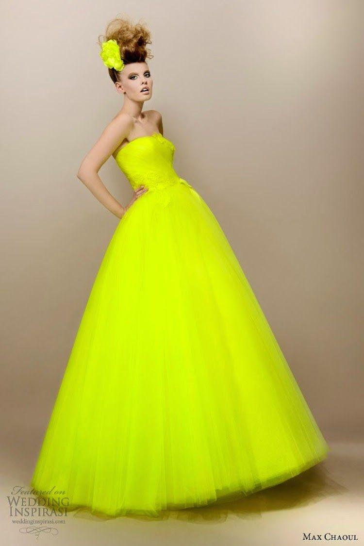 Neon Yellow Wedding Dress | Color | Pinterest | Yellow wedding ...