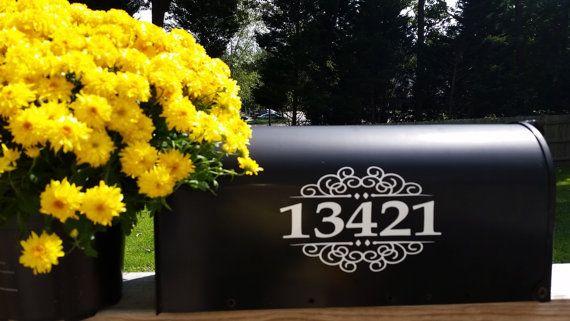 Unique Mailbox Number Stickers