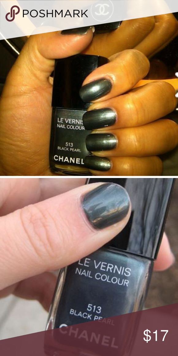 """Chanel Black Pearl Nail Polish Used just a little bit. I love the color but I'm not the """"I do my nails"""" kinda girls so I'm selling it after only one try. CHANEL Other"""