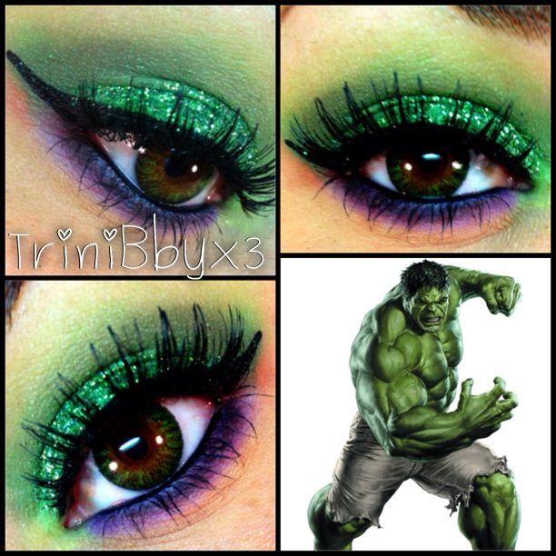 Hulk Makeup Glitter Makeup Disney Eye Makeup Superhero Makeup Eye Makeup