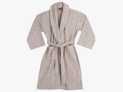 EGYPTIAN COTTON Mushroom cream unisex bathrobe, L/XL