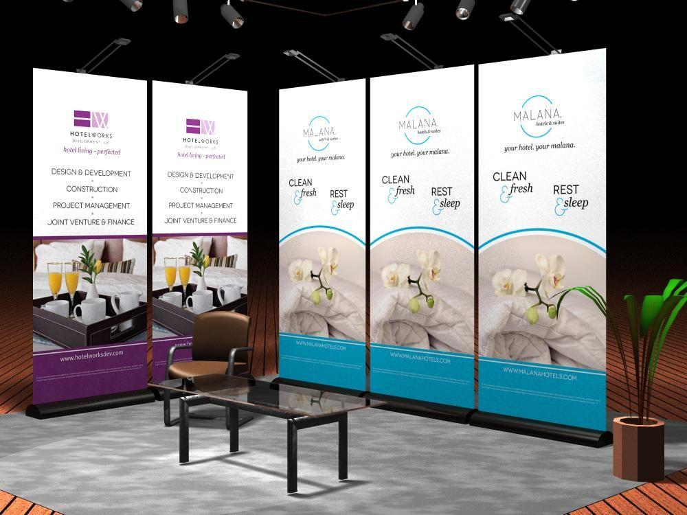 Exhibition Booth Banner : Digital marketing agency portfolio booth design
