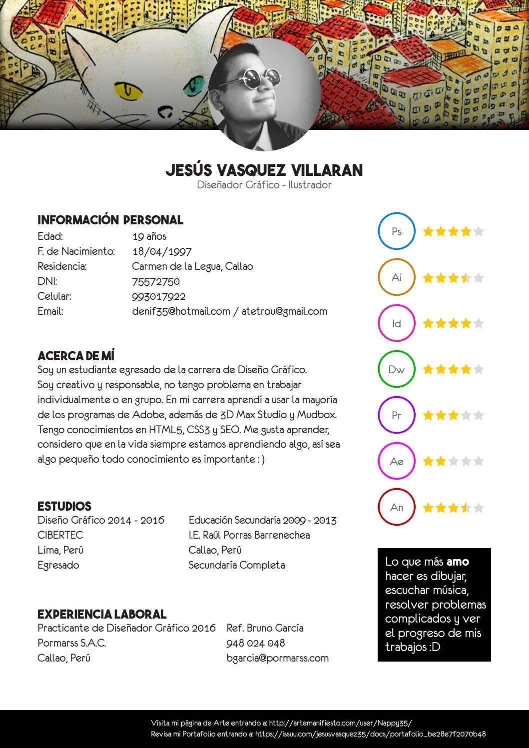 Curriculum Vitae | Pinterest | Diseñadores gráficos, Portafolio y ...