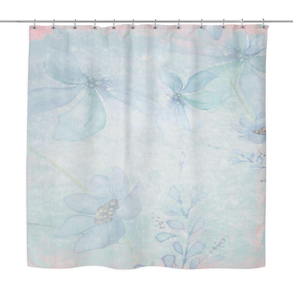 Romantic shower curtain - Vintage Romantic Blue Shower Curtain