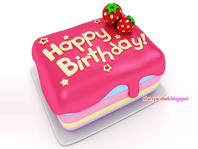 Birthday Cake Greeting Card Animated Labels Birthday Greetings