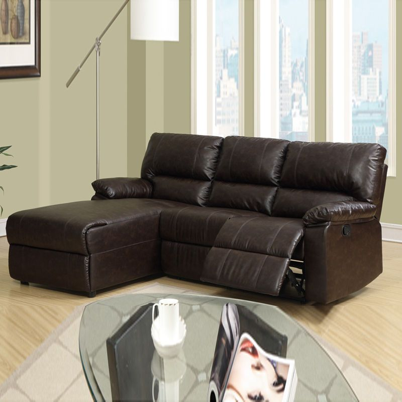 watch acfb1 3617c Small Leather Sofa with Chaise | Chaise Sofa | Small ...