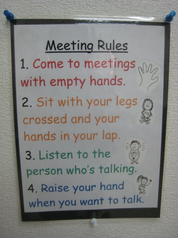 morning meeting rules - Google Search   Responsive classroom ...