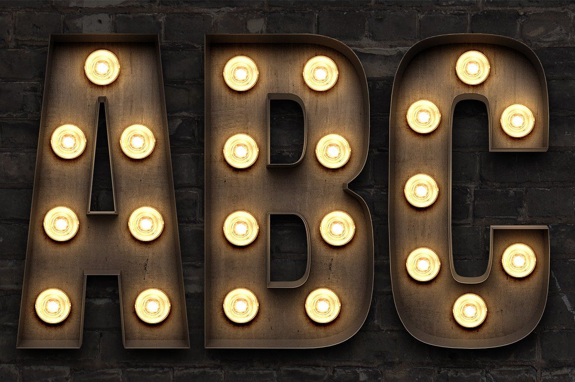 Marquee Light Bulb Sign Letters Light Bulb Marquee Light