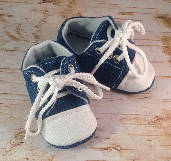 Denim Baby Tennis Shoes | Newborn size up to 18 Months ...