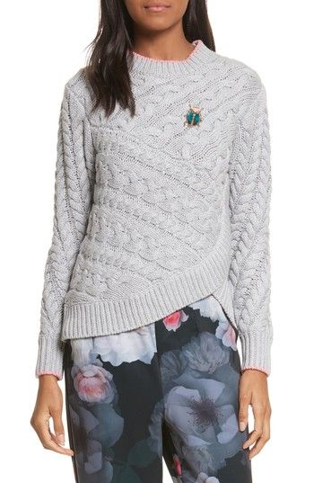 c361d177f664fe TED BAKER CHARO CABLE KNIT SWEATER.  tedbaker  cloth