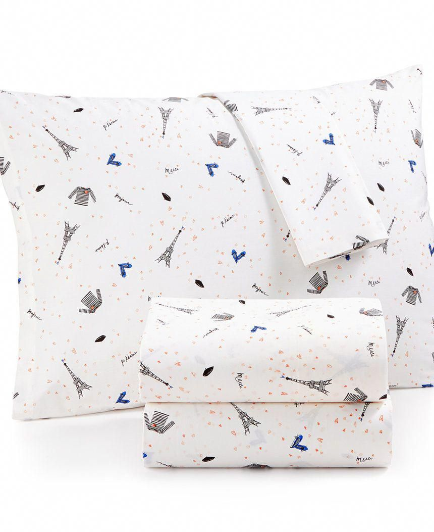 Whim By Martha Stewart Collection Novelty Print Cotton Percale