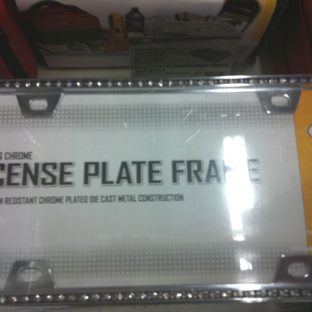 License plate frame with diamonds on the edge sold at Walmart & License plate frame with diamonds on the edge sold at Walmart | Wish ...