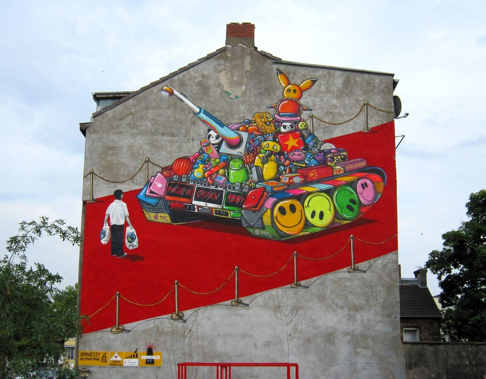 A.Signl New Mural In Cologne, Germany. Street Art - Graffiti - Urban culture.