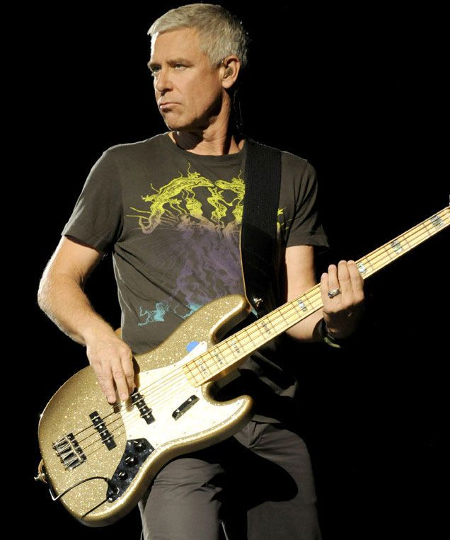 Resultado de imagen para adam clayton playing mysterious ways