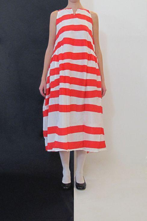 Daniela Gregis washed round neck sleeveless dress