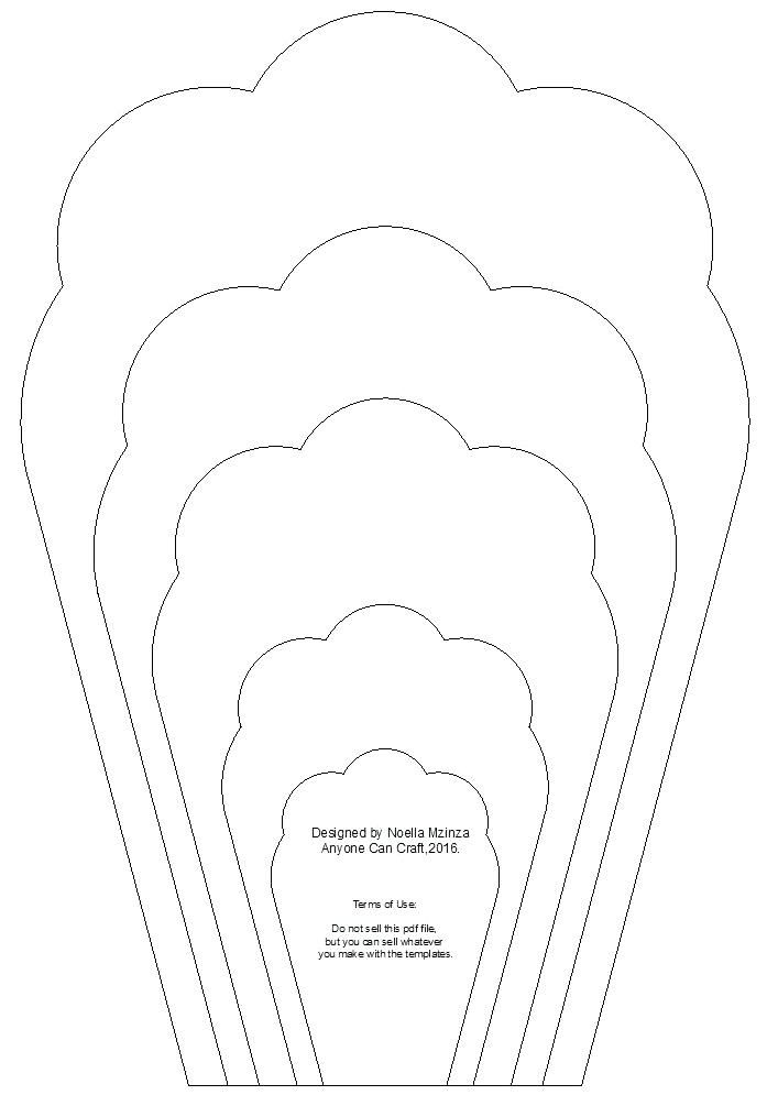 paper rose template printable free printable paper rose template