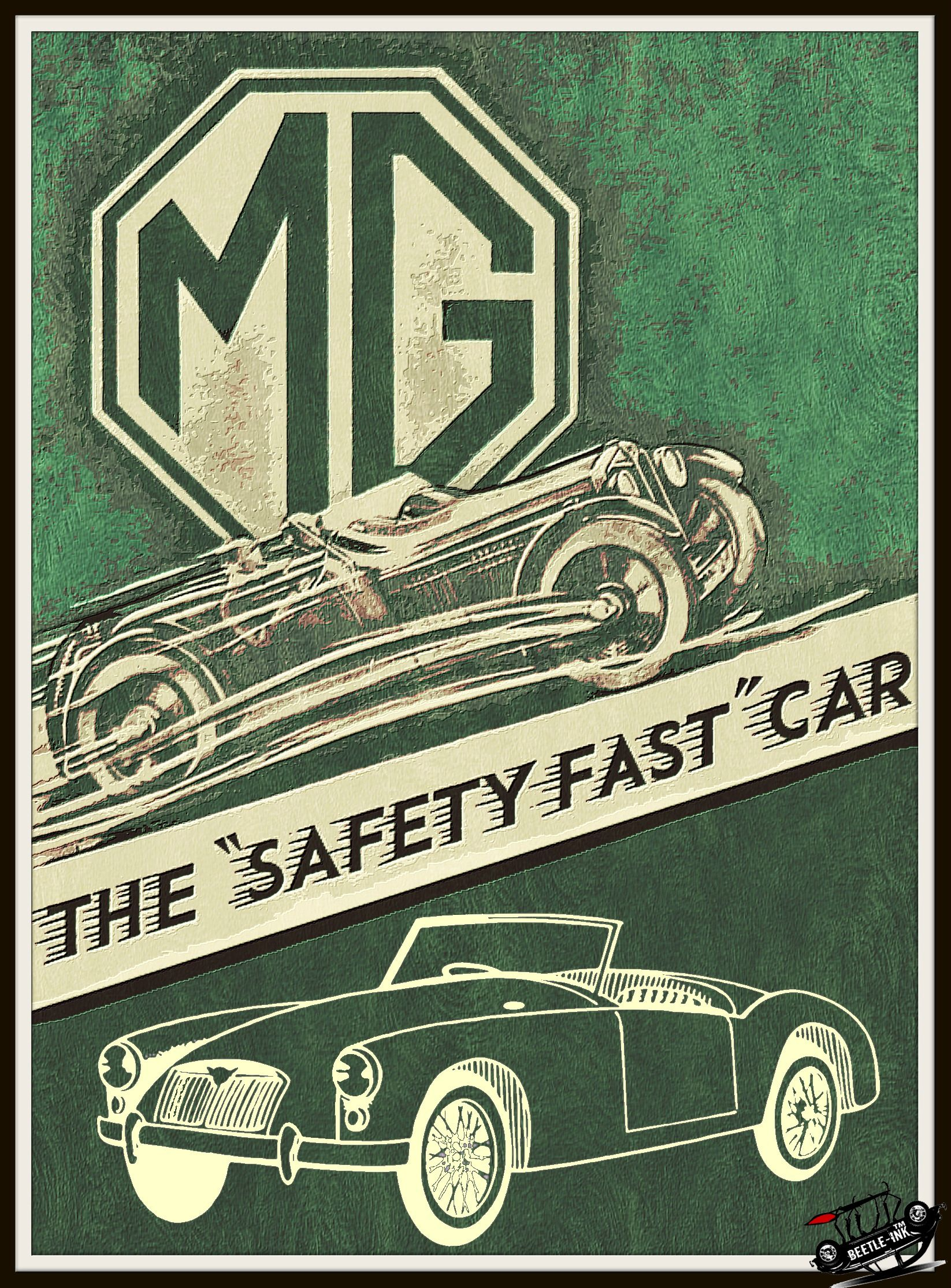 limited edition metal sign by BeetleInk Automotive