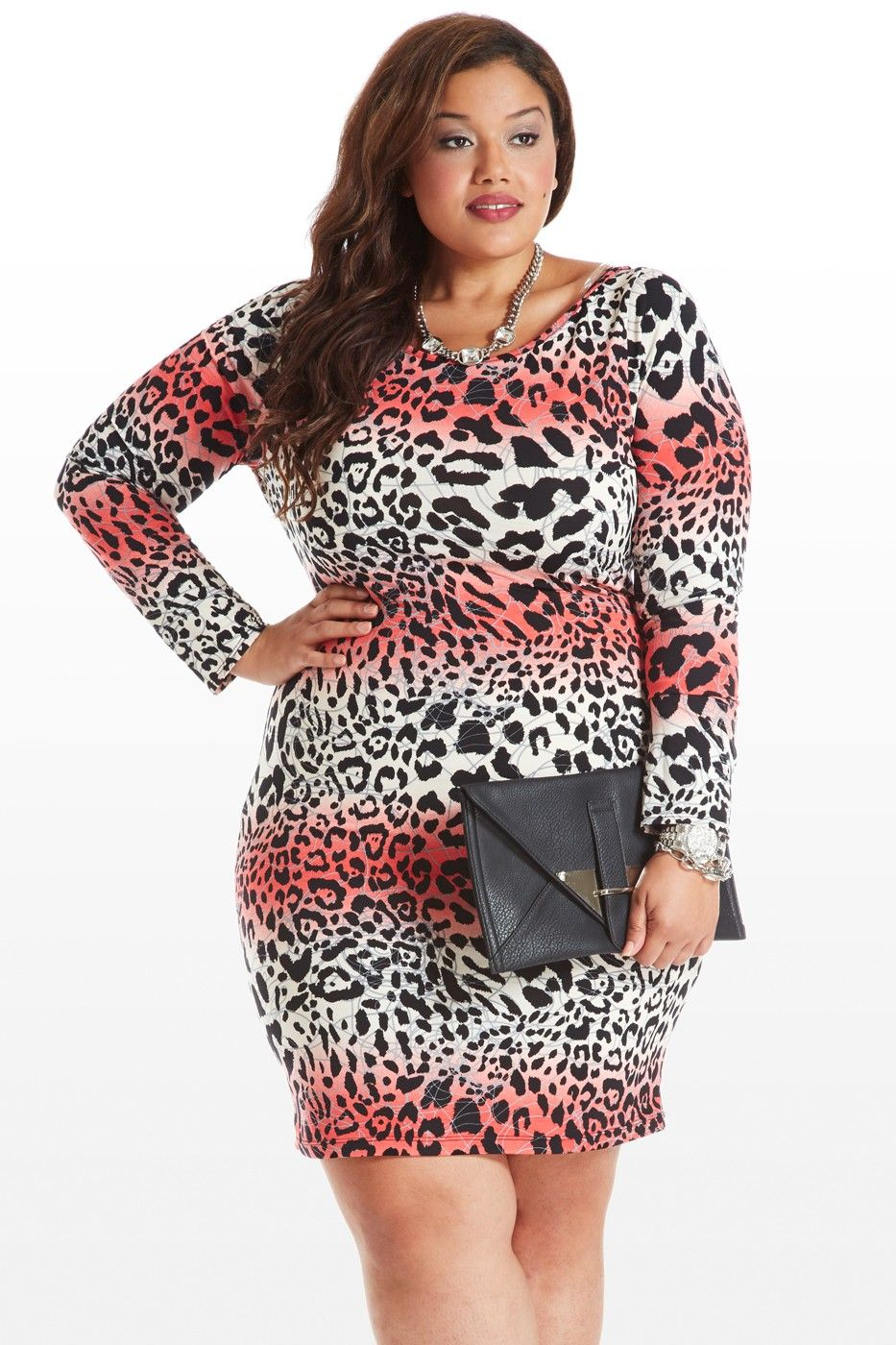 bf9d269d9f Plus Size Clothing New Arrivals. She s All Cat Animal Print Dress