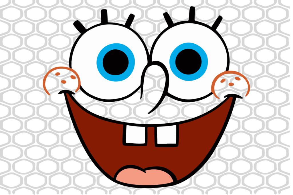 Spongebob Squarepants Large Smiling Face Svg Files For Silhouette Files For Cricut Svg Dxf Eps P Spongebob Faces Spongebob Birthday Party Decorations Spongebob