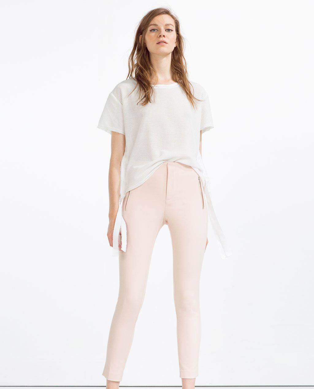 Image 1 of MID-RISE SKINNY TROUSERS from Zara