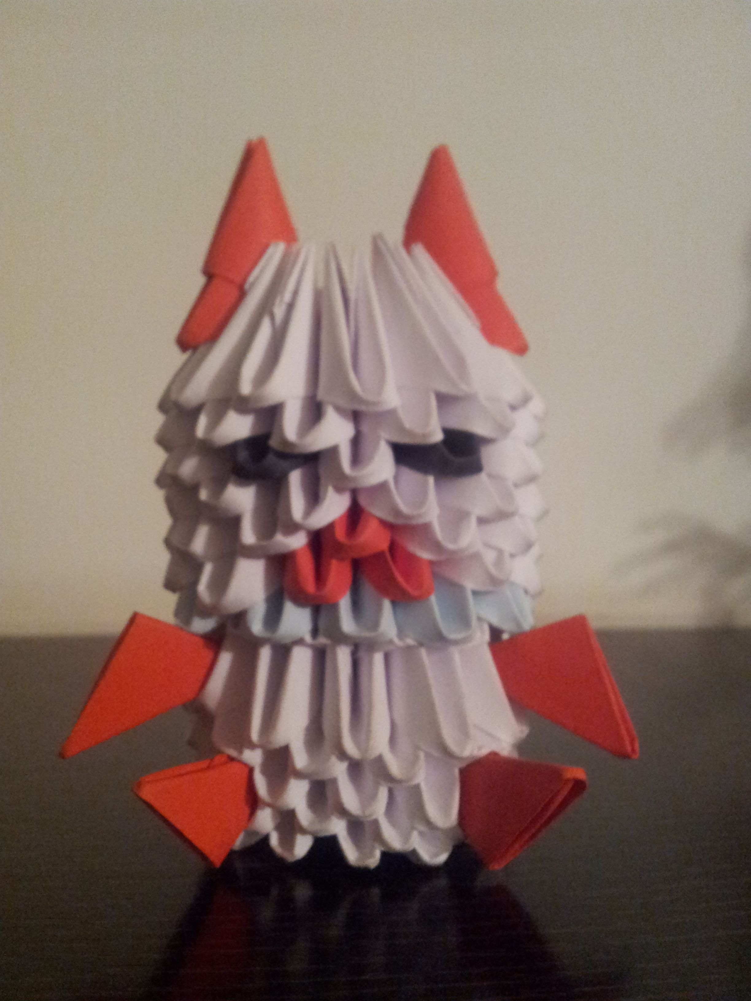 ORIGAMI 3D. Vampiro, piezas de 6x4.