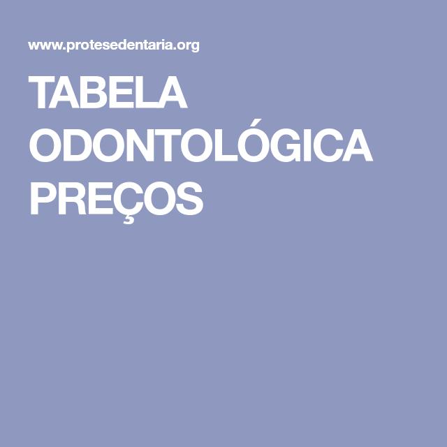 207662308 TABELA ODONTOLÓGICA PREÇOS
