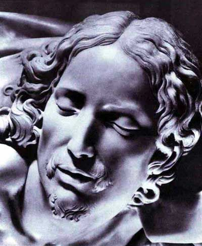 Arte - Escultura - Italia - MICHELANGELO - PIETA - CRISTO - DETALHE - 1498