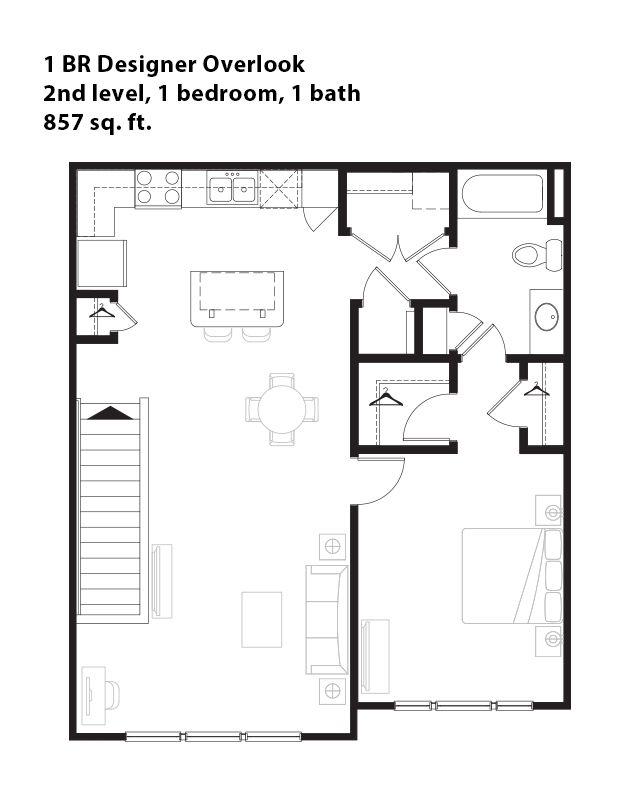 1 Bedroom Designer Overlook Apartment In San Antonio, TX