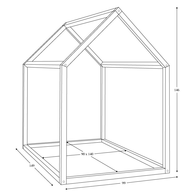 bonnesoeurs design lit maison dimensions kidoooes pinterest camas dormitorio y bebe. Black Bedroom Furniture Sets. Home Design Ideas