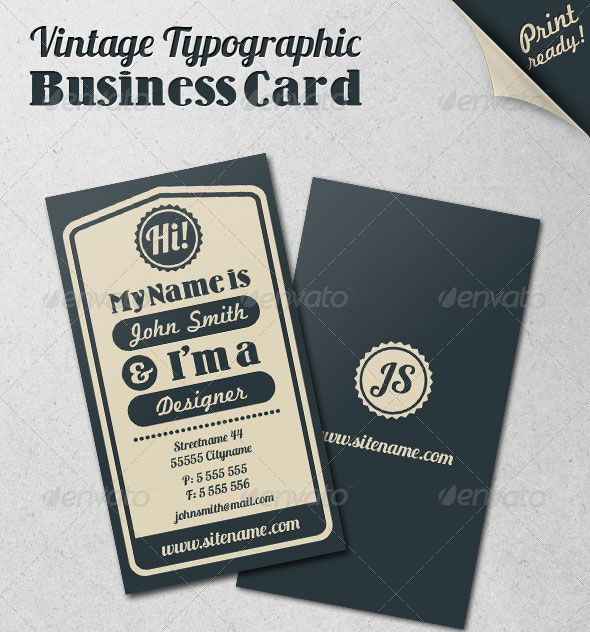 15 typography business card templates web design inspiration card 15 typography business card templates graphic web design inspiration resources cheaphphosting Choice Image