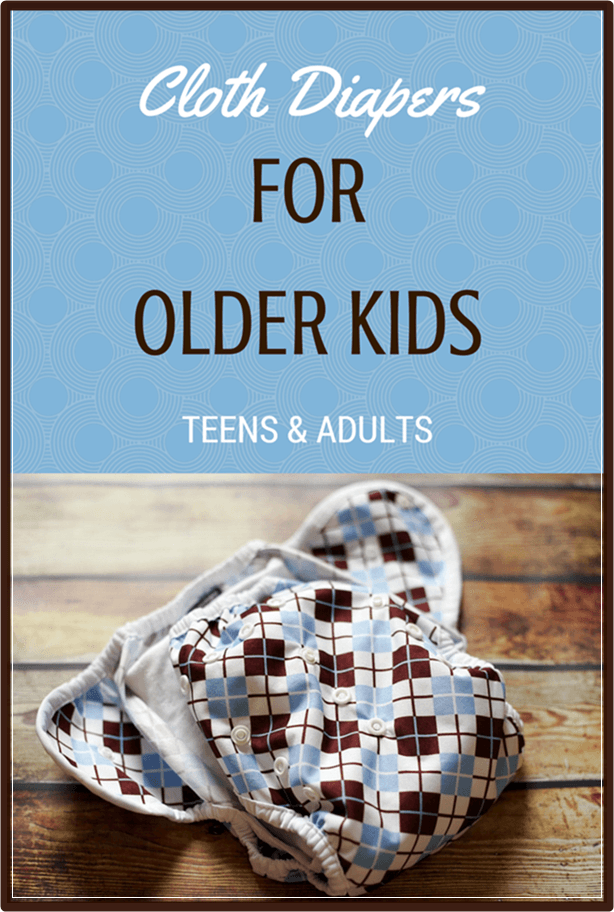 Cloth diapers for older kids, special needs, teens, & adults. This is a large hole in the cloth diaper market that I hope gets filled soon. In the meantime, here are some resources if you are in need of cloth diapers in larger sizes.